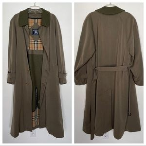 Vintage Burberry Trench Coat, 42R, Olive